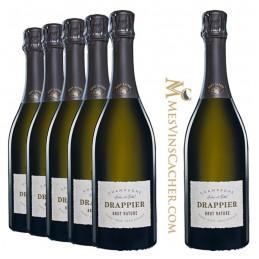 Champagne Drappier Brut Nature Zéro Dosage en Coffret Individuel   (5 achetés + 1 Offerts )