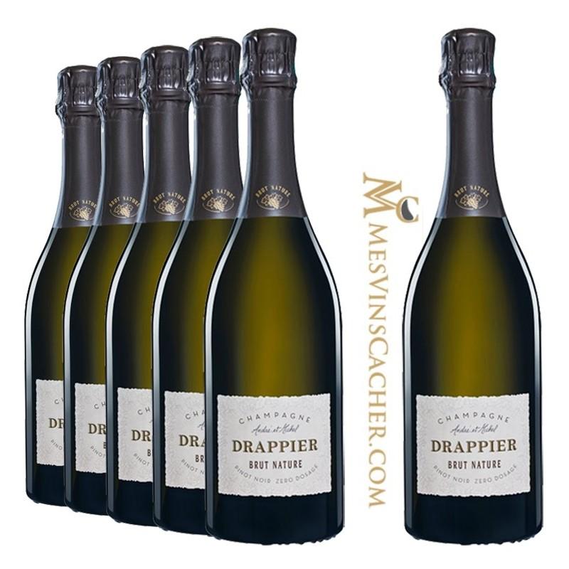 Champagne Drappier Brut Nature Zéro Dosage   (5 achetés + 1 Offerts )