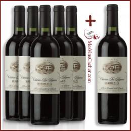 Bordeaux Château Les Riganes 2017  ( 5 Achetés + 1 Offert )