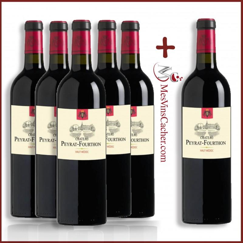 Haut Médoc Château Peyrat Fourthon 2015 (5 achetés + 1 offert )