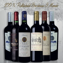 Coffret 100% Rothschild Bordeaux & Monde  X 6 Bouteilles