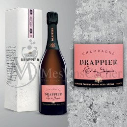 """Champagne Drappier """"Rosé de Saignée"""" en Coffret Individuel  (prix KC à partir de 12 btl )"""