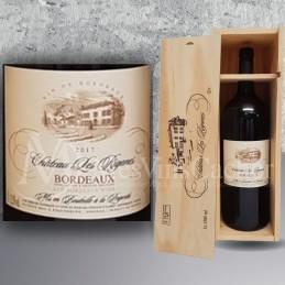 Magnum Bordeaux Château Les Riganes 2018 en Plumiers Bois
