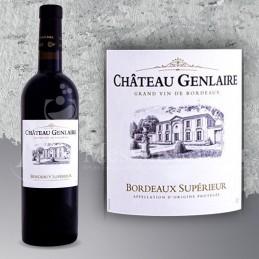 Magnum Bordeaux Supérieur Château Genlaire 2018 en Plumier Bois