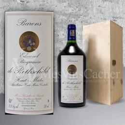 Double Magnum  Haut Médoc Baron Edmond Rothschild 2015 in Wooden Box