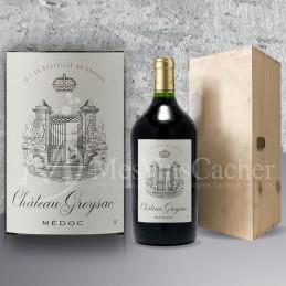 Double Magnum Médoc Château Greysac 2013 in Wooden Box