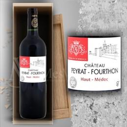 Magnum Haut Médoc Château Peyrat Fourthon 2015  in Wooden Box Gravé