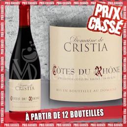 Côtes du Rhône Domaine Cristia 2018  (Prix KC à partir de 12 bouteilles)